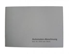 Spielautomat Automaten-Abrechnungs-Block excl.