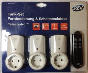 Jugendschutz - Funk-Set Fernbedienung & Schaltsteckdose - Telecontrol