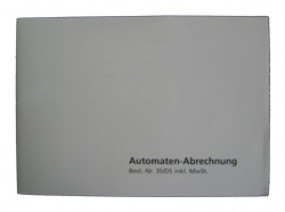 Spielautomat Automaten-Abrechnungs-Block Incl.